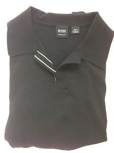 Mens-black-Hugo-Boss-Black-Label-Polo-Shirt-Size-Medium