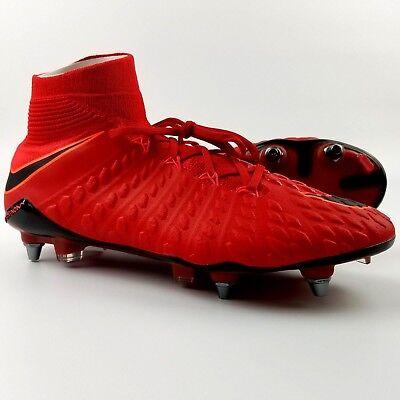 check out c87b7 631cd Nike Hypervenom Phantom 3 DF SG PRO Men's Soccer Cleats University Red  Black ACC | eBay