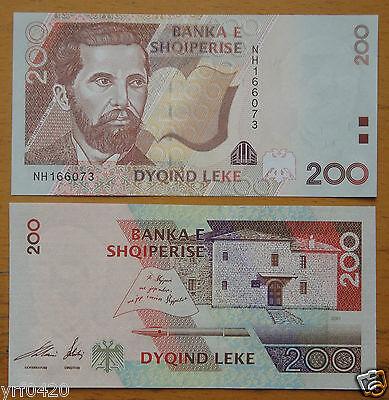 UNC Albania 200 leke 1996 P59 Banknote Paper Money