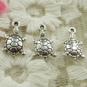 #4662 Free Ship 236pcs Antique silver tortoise charms 12x8mm