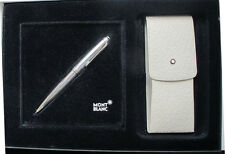 MONTBLANC SOLITAIRE PURE SILVER BARLEY FINISH PENCIL + POUCH NEW IN  BOX