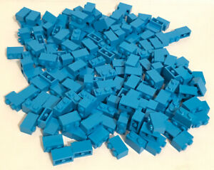 LEGO Dark Azure Brick 1x2 Lot of 100 Parts Pieces 3004