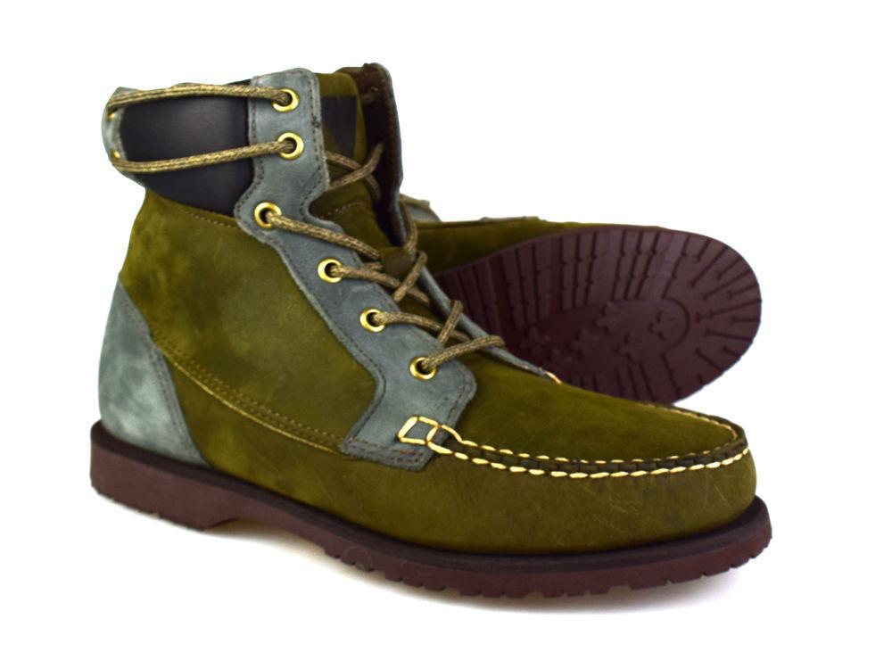 Sebago Artisan Sammlung Scout olive Leder Arbeitsstiefel