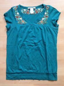 Tolles-Damen-Designer-Sommer-Shirt-Top-von-Charlotte-Russe-gruen-small-Pailletten