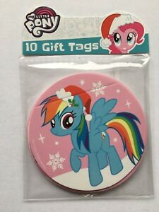 MY-LITTLE-PONY-GIFT-TAGS-Birthday-Present-Girl-s-Adhesive-Plain-Back-10-20