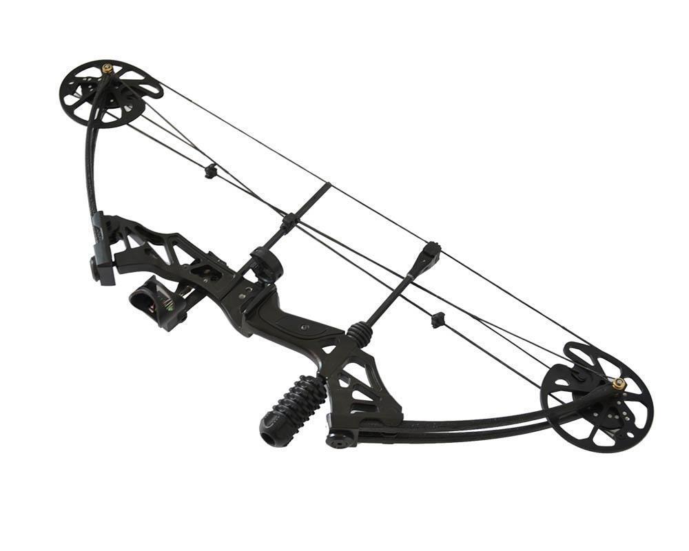 Mano derecha tiro con arco compuesto 35-70lbs 320fps Estabilizador De Caza Oso bowsight