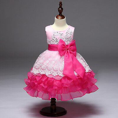 2017 Lace skirt Flower Girls kids summer Party Dance Prom Princess Pageant Dress