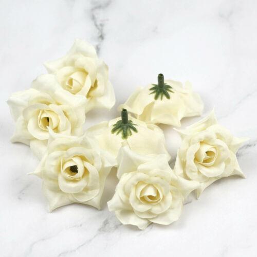 """10Pcs 2/"""" Seta Artificiale Fiore Rosa Testa Per Matrimonio Home Decor FAI DA TE FIORI FINTI"""