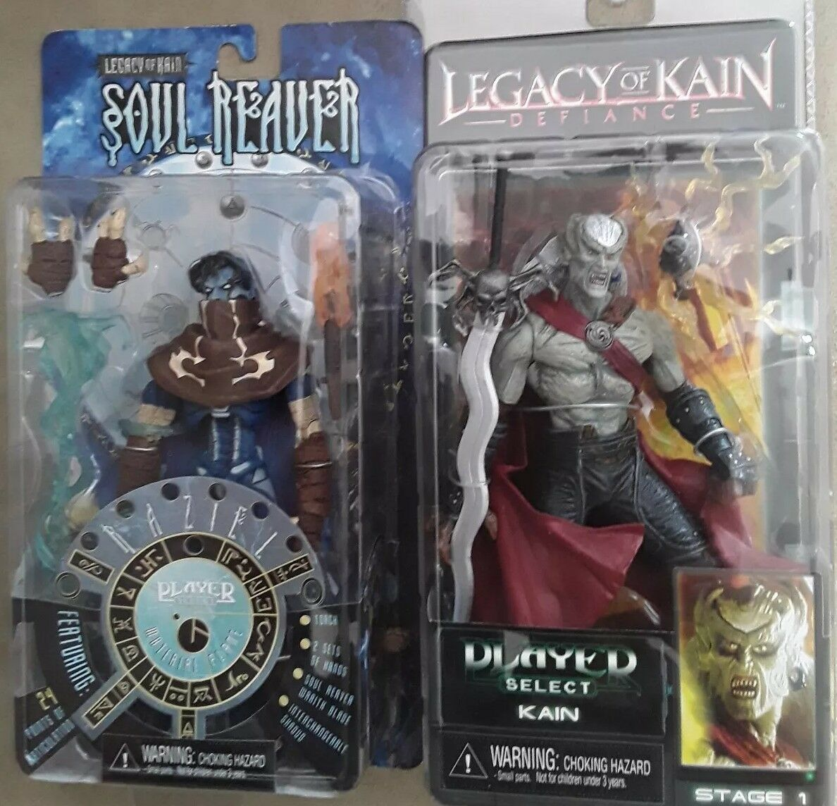 Neca Legacy of Kain SOULREAVER spelaer Select Raziel and Kain