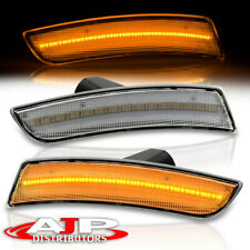 Chrome Amber Led Reflector Side Markers Lights Lamps Pair 2016 2021 Chevy Camaro