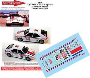 Calcomanias-1-18-Ref-1108-Citroen-Bx-4TC-Chomat-Rallye-1000-Pistas-1983-Rallye