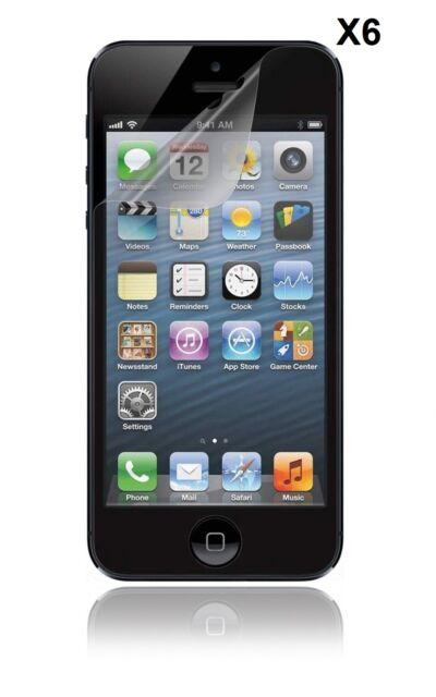 6 Films  Iphone 5  5S et 5C Protecteur Ecran Protection Screen