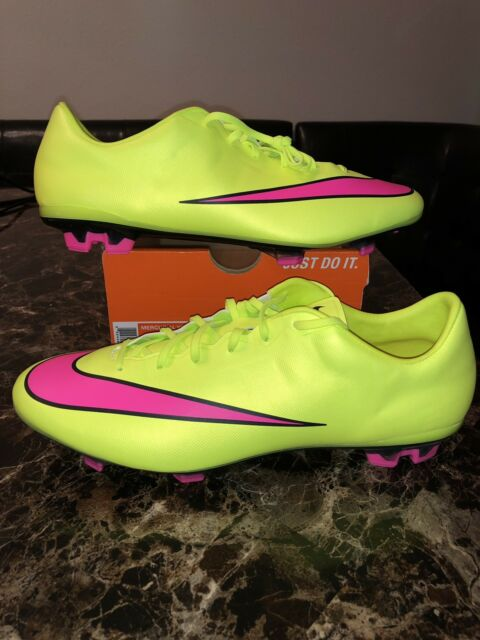 e08a39eb0cf173 Nike Mercurial Veloce II FG 651618-760 Volt Soccer Boots Cleats Shoes Men s  12