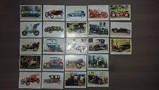23 different vintage Milou Bubble Gum Oldtimers Trading Cards/ Images 70's