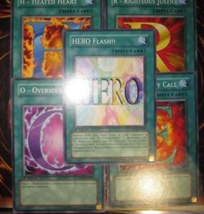 YU-GI-OH-LOT-5-CARTES-COMPLET-H-E-R-O-HERO-FLASH-SET-POUR-DECK-CONTRE-HEROS
