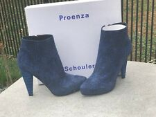 Proenza Schouler PS21034 St. Sotts Kid blue/black ankle boots size 40 new in box