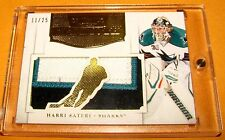 2011-12 Dominion Mammoth 3 Color Patch Gold - HARRI SATERI #41 - Sharks /25