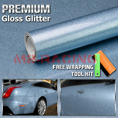 "24/""x60/"" Premium High Gloss Glitter Orange Sparkle Vinyl Wrap Sticker Decal DIY"
