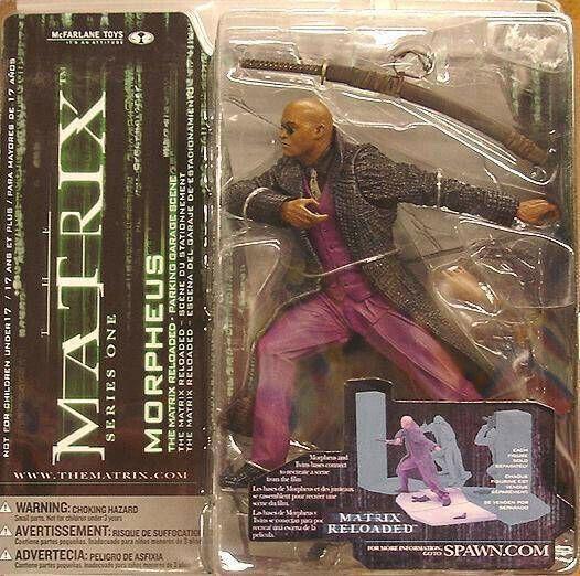 McFarlane giocattoli SERIE 1 azione Matrix Morpheus riautoicato parcheggio  Scena  buona qualità