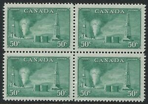 Scott-294-50c-Oil-Wells-Natural-Resources-Issue-Block-of-4-VF-H-NH-faults