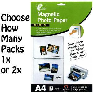 A4-Gloss-Magnetic-Photo-Paper-Inkjet-Printers-2-Sheet-Pack-Choose-1-Or-2-Packs