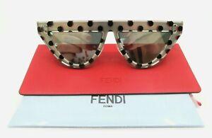 Fendi-Triangular-Mirror-Lens-Women-Sunglasses-New-w-Case-FF-0371-S-53mm