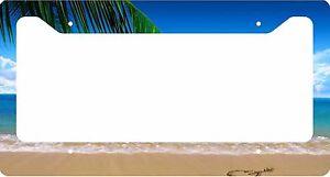 Tropical-Island-License-Plate-Frame-Car-Tag