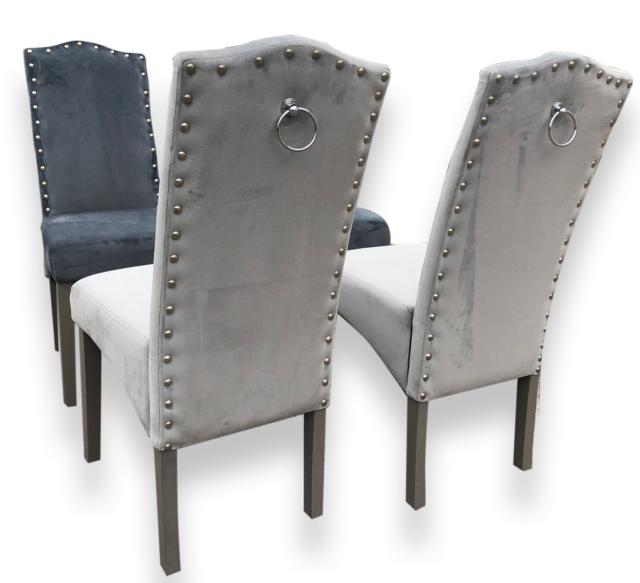 Knockerback velours Chaises de salle à manger-salle à manger, cuisine, Chaises-Top qualité