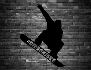 "6/"" #RideOnJake snowboarder vinyl decal snowboarding Burton RIDE ON JAKE"