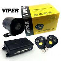 Viper 3100v One Way Car Security Alarm System W 2 Remotes Shock Sensor Siren