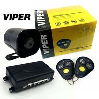Viper 3100v One Way Car Security Alarm System W 2 Remotes Shock Sensor Siren