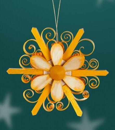 both sides Flower Yellow Ø8cm NEW Easter Spring Wood Shrub Hanging span Star