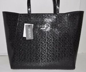 f4cead49cd Image is loading GUESS-LIBERATE-Tote-Shopper-Black-Handbag-Purse-Sac-
