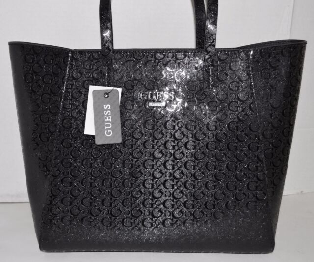 Guess Liberate Tote Per Black Handbag Purse Sac Bolsa Nwt