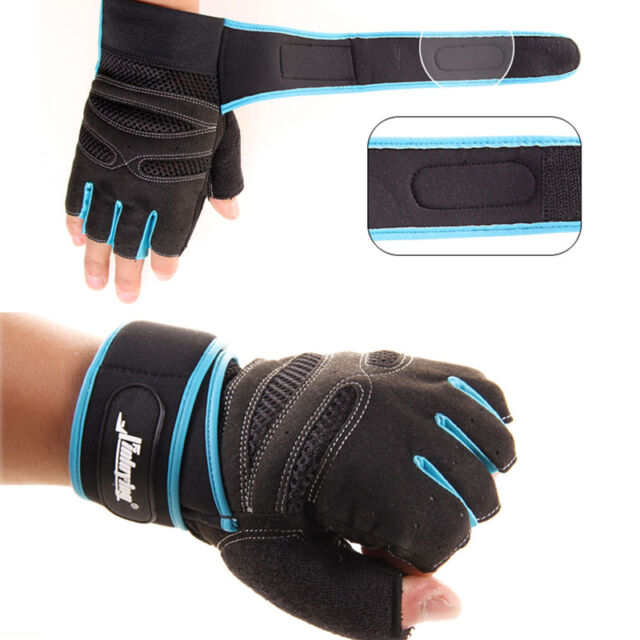 Weight Lifting Gym Gloves Training Fitness Workout Wrist Wrap Exercise Gloves