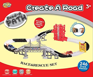 Bend A Path Race and Rescue Set 267 Pieces