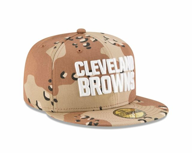 New Era 59FIFTY Cleveland Browns Fitted Hat Camouflage Desert Camo 7 1 8 NFL 48eb8be1b