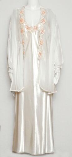 Vintage Lingerie Ivory Lace, Pearls, Sequins Peign