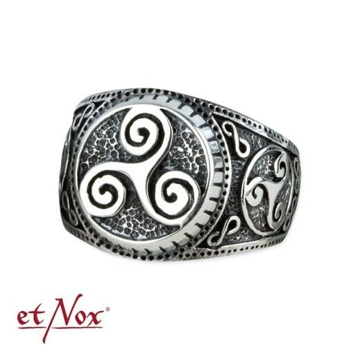 Triskele Ring keltischer Knoten Gothic Wicca Magie 925er Silber Silberring R5402