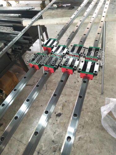 2 sets HGR15-400mm Hiwin Linear rail /& 4 pcs HGW15CC Block Bearing
