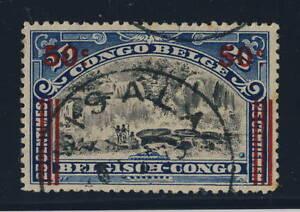 BELGIAN-CONGO-BELGE-COB90-CAD-ROND-A-ETOILE-034-LISALA-034-TB