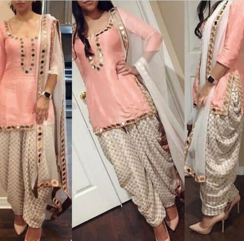Glamorous Pakistani Punjabi Salwar Kameez Beautiful Girl Women Indian Pink Suits