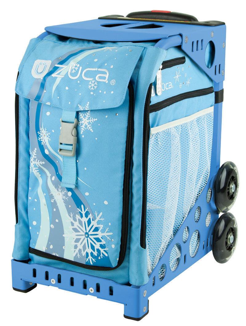 ZUCA Bag WONDERLAND Insert & bluee Frame w Flashing Wheels - FREE SEAT CUSHION