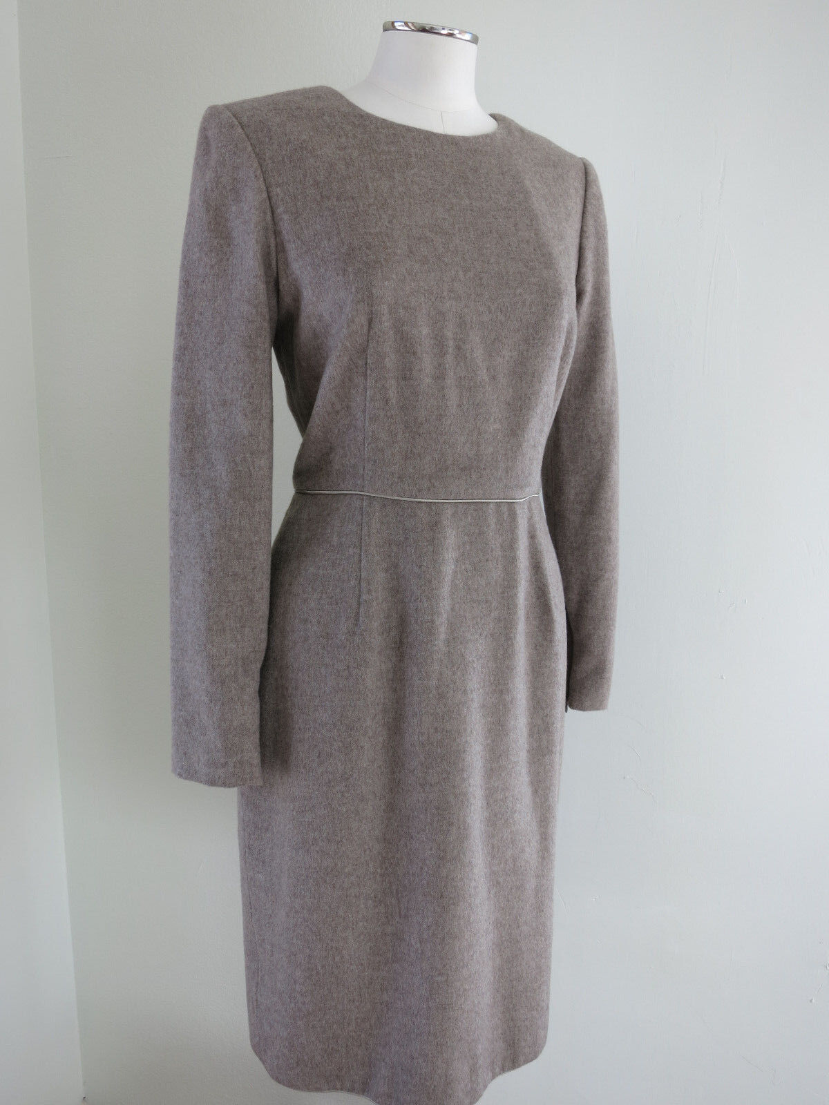 DENNIS BASSO WOMENS DRESS EXQUISITE CASHMERE WOVEN NWOT OATMEAL 4