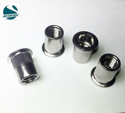 "Qty 10 5//16/"" UNC Countersunk 304 Stainless Steel Rivet Nut Rivnut Nutsert"