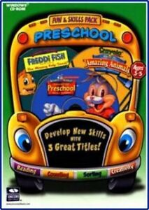 Fun-amp-Skills-Preschool-Reader-Rabbit-Preschool-Freddi-Fish-Kelp-Crayola-NEW