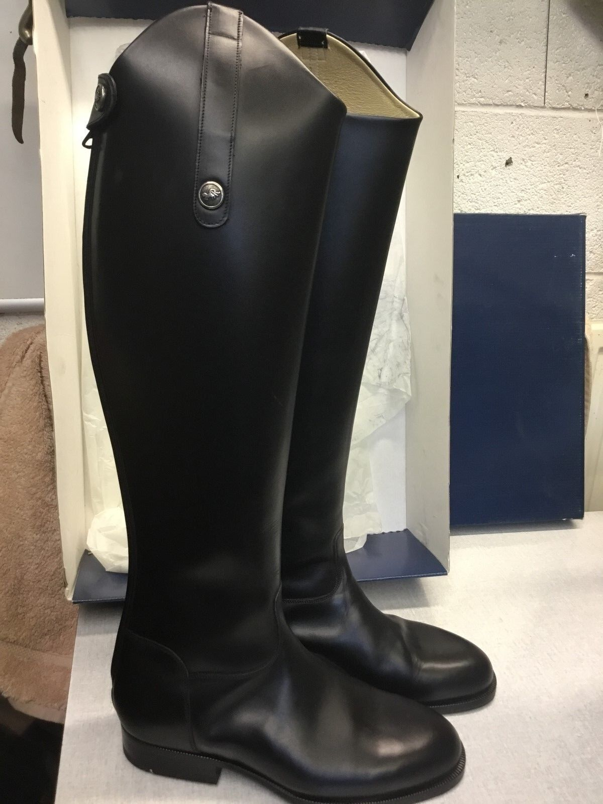 Sarm Hippique Leather Riding Stiefel with zip