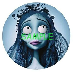 Corpse bride Round Edible Birthday Cake Topper Frosting Sheet