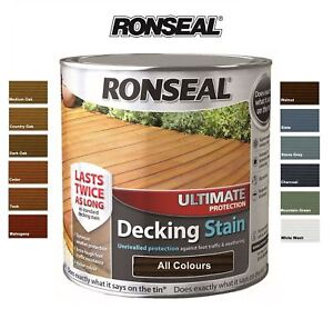 Ronseal Ultimate Protection Decking Stain 2 5 Litre All