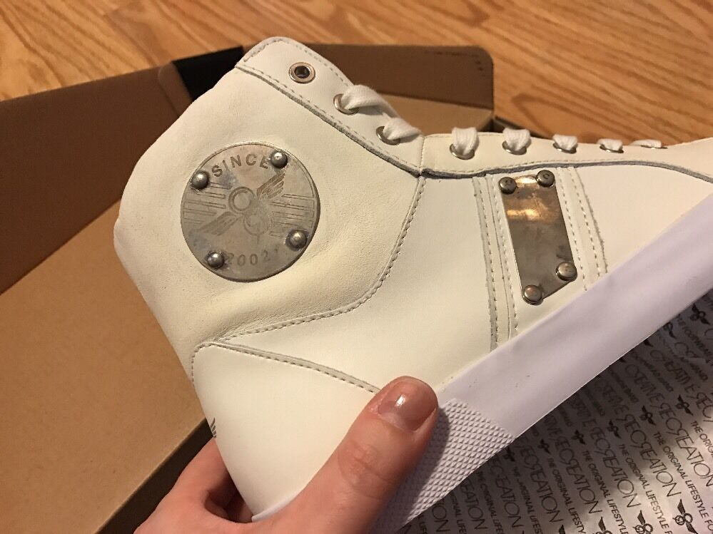 Creative Recreation  Leder Uomo Fenelli Vintage Silver Leder  Fashion Sneakers 9.5 M 2109aa